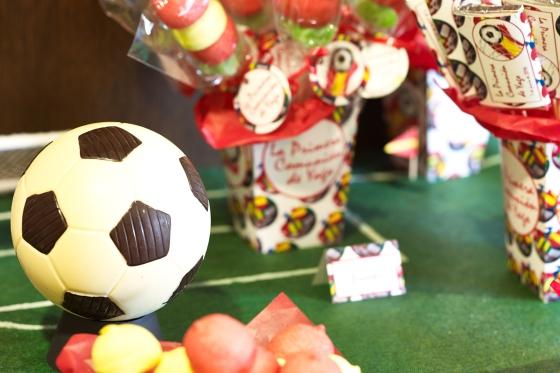 Decoración para comunión y fiestas de cumpleaños. futbol