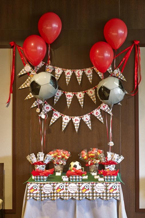 Decoración para comunión y fiestas de cumpleaños. fútbol