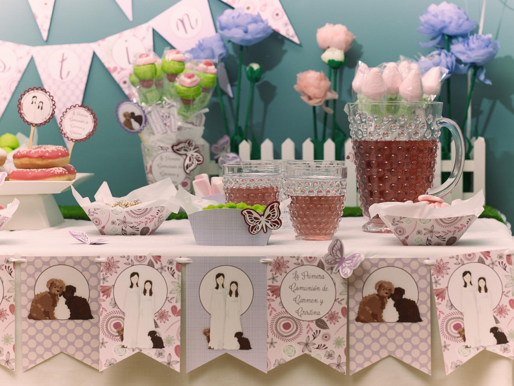 Muchas novedades para una primera comuni n muy primaveral - Como decorar una mesa de comunion ...